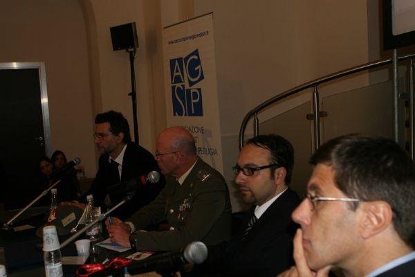 Gianluca Ales (Skytg24), Generale Massimo Fogari, Dario Moricone (Rai), Oliviero Bergamini  (Rai)