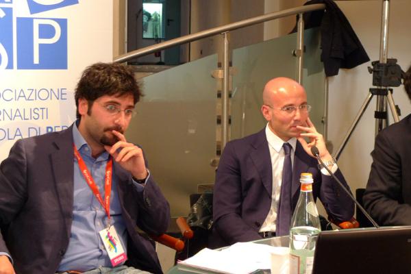 Roberto Rossi, giornalista e scrittore e Pierpaolo Bruni, pm della procura di Catanzaro