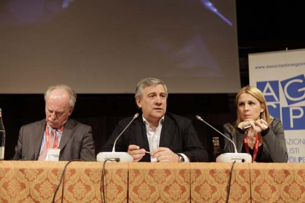 Lucio Battistotti, Antonio Tajani, Anna Piras