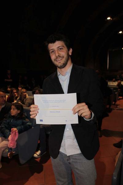 Premio Ue Agsp, per giovani giornalisti. Il giovane vincitore, Paolo Riva