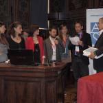 Il vicepresidente della Commissione Ue Antonio Tajani e il segretario Agsp Marcello Greco premiano i primi classificati