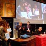 La premiazione dei vincitori. Con Antonio Tajani, vicepres. Commissione Ue, e Marcello Greco, segretario Agsp