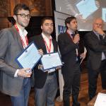 Terzi classificati con il segretario Agsp, Marcello Greco, e il direttore della Rappresentanza italiana della Commissione Ue, Lucio Battistotti