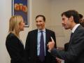 Anna Piras (presidente Agsp) e Marcello Greco (segretario Agsp) con il dg Rai Luigi Gubitosi